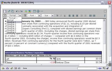 IBM DHTML Document
