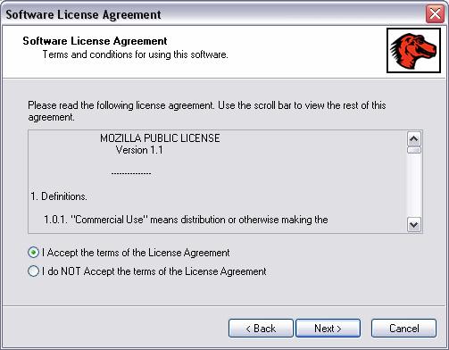 Mozilla Firebird Installer Screenshot