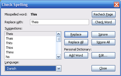 Spell checking in Mozilla Thunderbird